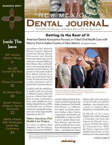 NMDA Dental Journal Summer 2011 - New Mexico Legislature