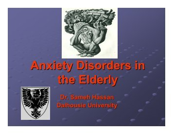 Anxiety Disorders in the Elderly