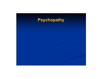 Psychopathy and Recidivism - ANNA Salter, PH.D.