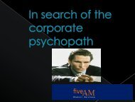 Psychopaths in the Workplace - the New Zealand Industrial ...