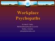 Workplace Psychopaths - The Institute of Internal Auditors