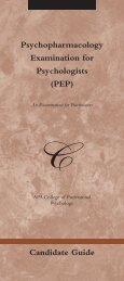 Psychopharmacology Examination for ... - RxPsychology