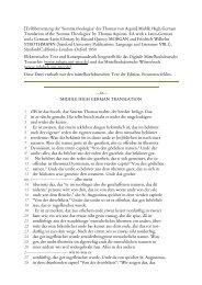 [Teilübersetzung der 'Summa theologiae' des Thomas von Aquin ...