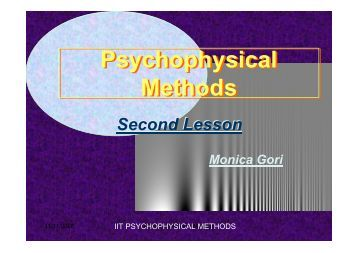 Psychophysical Methods Psychophysical Methods