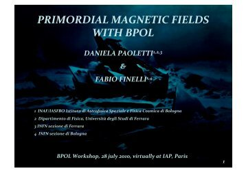 PRIMORDIAL MAGNETIC FIELDS WITH BPOL