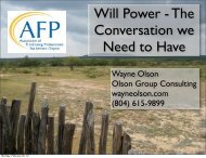 Will Power - Association of Fundraising Professionals