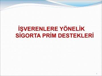 Teşvik Rehberi - SGK Antalya