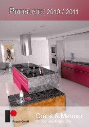 preisliste 2010 / 2011 Granit & Marmor - Reggio GmbH