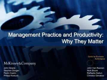 Management Practice and Productivity: Why they Matter - Presentation