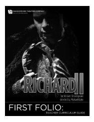 Richard II First Folio - The Shakespeare Theatre Company