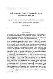 A Quantitative Study of Primordial Germ Cells in the ... - Development
