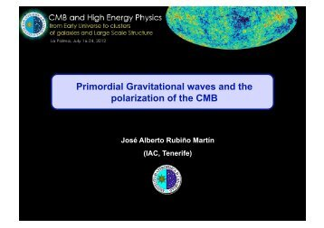 Primordial Gravitational waves and the polarization of the CMB