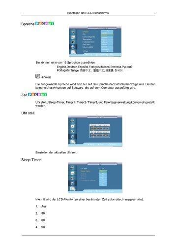 Zeiteinstellung Samsung UXN
