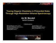 Tracing Organic Chemistry in Primordial Disks Through High ... - NASA