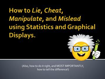 Lie with Statistics - University of California San Diego