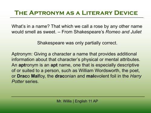 Aptronym
