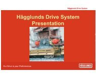 Hägglunds Drive System Presentation - India Core