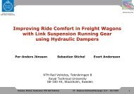 Improving Ride Comfort in Freight Wagons with Link Suspension ...
