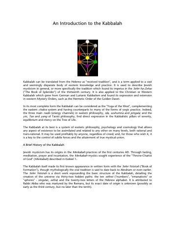 An Introduction to the Kabbalah - Temple Emanu-El