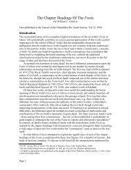 the chapter headings of the fusus - Muhyiddin Ibn Arabi Society