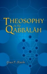 Theosophy in the Qabbālāh - The Theosophical Society