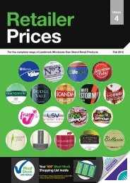 Retailer issue prices - BA Cash & Carry