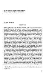 On the Descent of John Owen Dominis, Prince Consort of ... - eVols