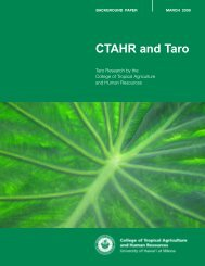 CTAHR and Taro - College of Tropical Agriculture and Human ...