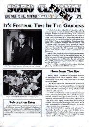 The Soho Festival, the village fete of Soho, will ... - The Soho Society