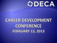 DE CDC 2013 Awards Ceremony - Delaware DECA