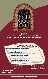 Dinner Menu - Millennium Restaurant Group