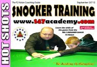 the game from the Learn the skills of PJ Nolan - 147 Academy