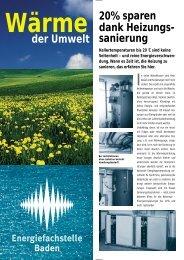 sanierung - Regionalwerke AG Baden