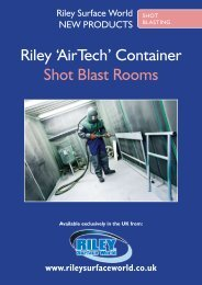 Riley 'AirTech' Container Shot Blast Rooms - Riley Surface World
