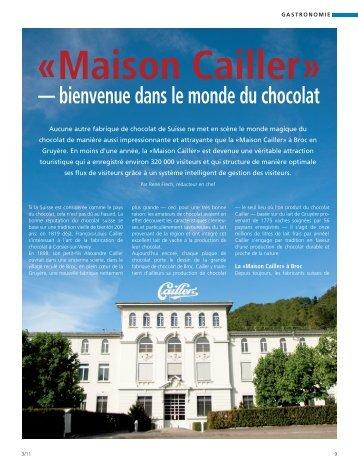Maison Cailler» — bienvenue dans le monde du chocolat - TCPOS
