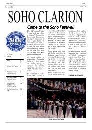soho clarion - The Soho Society