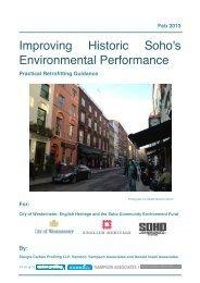 Improving Historic Soho's Environmental Performance - Westminster ...