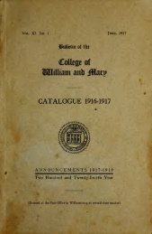 Catalogue Issue, 1916-1917 - The W&M Digital Archive - College of ...