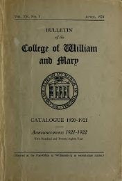 Catalogue Issue, 1920-1921 - The W&M Digital Archive - College of ...