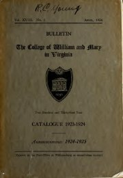 Catalogue Issue, 1923-1924 - The W&M Digital Archive - College of ...