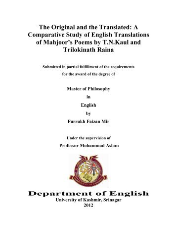 m.phil dissertation in english literature