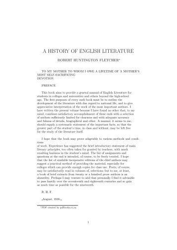 A HISTORY OF ENGLISH LITERATURE - PDFbooks.co.za