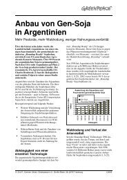 Anbau von Gen-Soja in Argentinien - Kurzfassung - Greenpeace