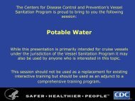 Potable Water - Centers for Disease Control and Prevention