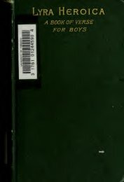 Lyra heroica; a book of verse for boys - Index of