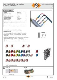 PLIO-V-MARKERS® oval markers - SES Sterling