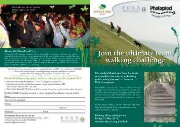 Download your entry form and find out more - The Woodland Trust