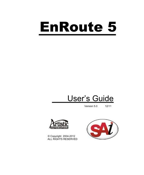 EnRoute 5 (in english) - CNC Software