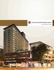 notes to the financial statements - Far East Orchard Limited