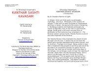Kanthar Sashti Kavasam (pdf) - Skandagurunatha.org